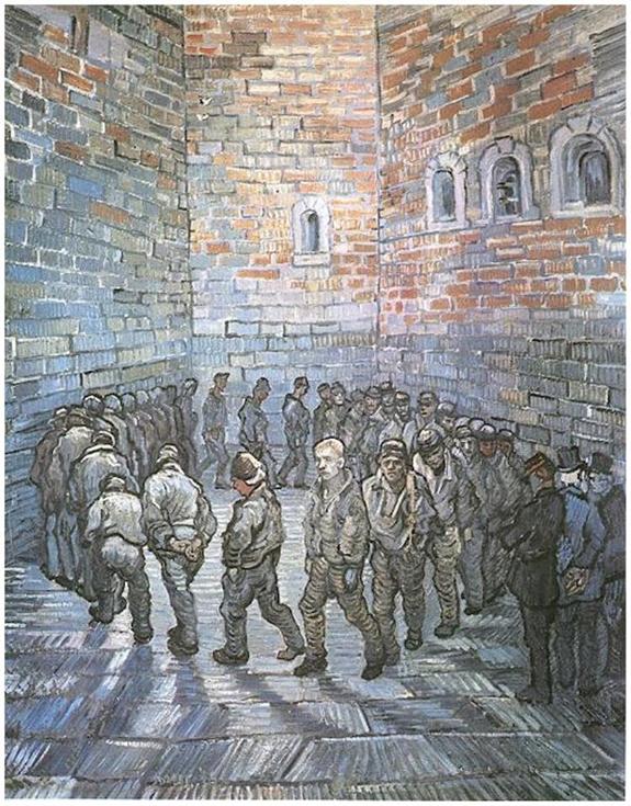 "Винсент Ван Гог ""Прогулка заключенных"", 1890."