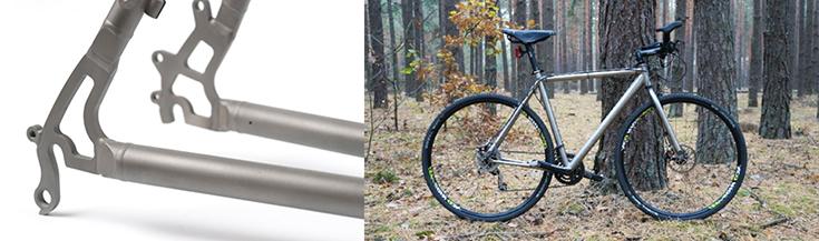 Велосипедные рамы из авиационного титана Rapid